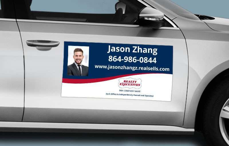 Realty Executives Real Estate 12 x 24 with Photo Car Magnets - Realty Executives custom car magnets for realtors | BestPrintBuy.com