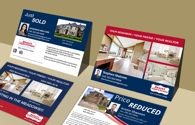 Realty Executives Real Estate Property EDDM Postcards - Realty Executives postcard templates and direct mail services | BestPrintBuy.com