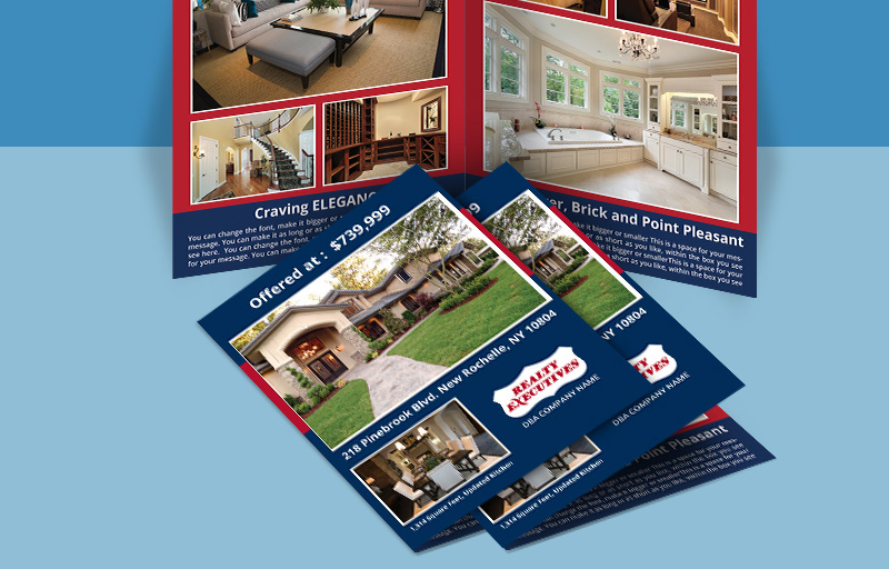 Realty Executives Real Estate Flyers and Brochures - Realty Executives  four-sided flyer templates for open houses and marketing | BestPrintBuy.com