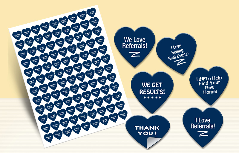 Realty Executives Real Estate Heart Shaped Stickers - Realty Executives  stickers with messages | BestPrintBuy.com