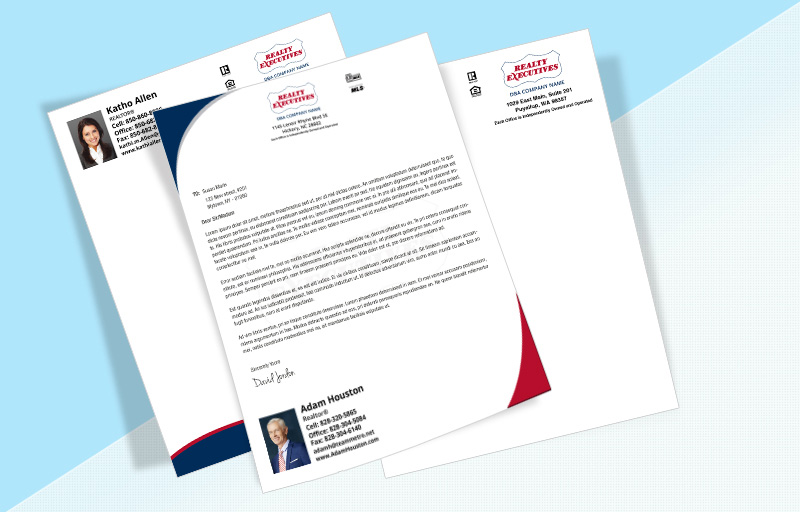 Realty Executives Real Estate Letterheads - Realty Executives Custom Letterhead Stationery for Realtors | BestPrintBuy.com