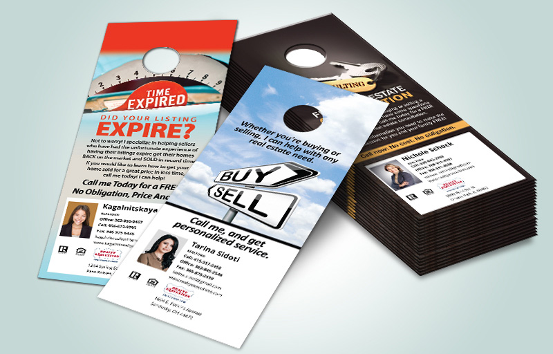 Realty Executives Real Estate One Sided Door Hangers - Realty Executives  Gloss Door Knockers for Realtors | BestPrintBuy.com