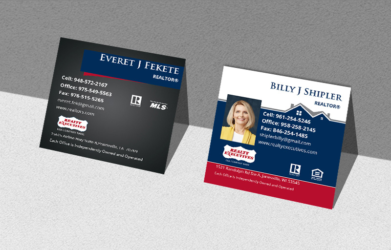 Realty Executives Real Estate Square Business Cards - Realty Executives  Modern Business Cards for Realtors | BestPrintBuy.com