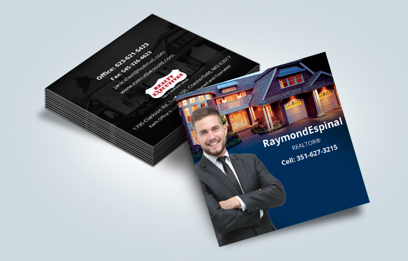 Realty Executives Real Estate Matching Two-Sided Square Business Cards - Realty Executives - Modern, Unique Business Cards for Realtors | BestPrintBuy.com