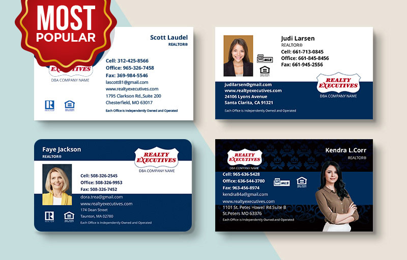 Realty Executives Real Estate Standard Business Cards - Realty Executives  Standard & Rounded Corner Business Cards for Realtors | BestPrintBuy.com