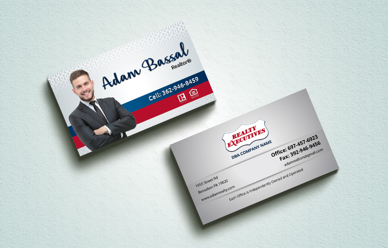Realty Executives Real Estate Spot UV (Gloss) Raised Business Cards - Realty Executives  Luxury Raised Printing & Suede Stock Business Cards for Realtors | BestPrintBuy.com