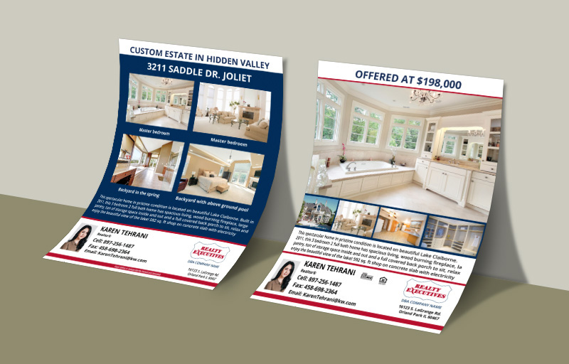 Realty Executives Real Estate Flyers and Brochures - Realty Executives  two-sided flyer templates for open houses and marketing | BestPrintBuy.com
