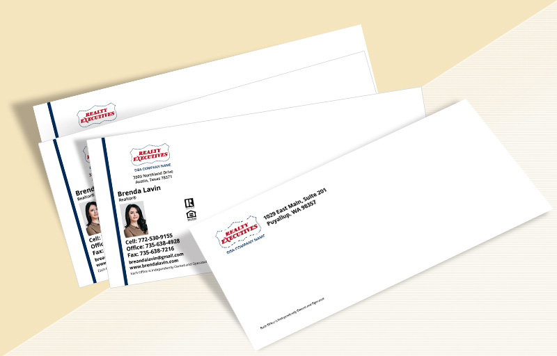 Realty Executives Real Estate #10 Envelopes - Realty Executives Custom #10 Envelopes Stationery for Realtors | BestPrintBuy.com