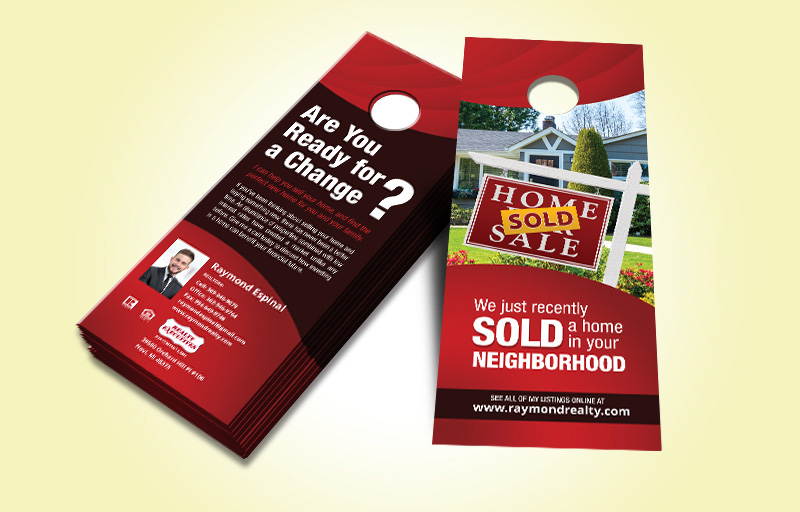 Realty Executives Real Estate Two Sided Door Hangers - Realty Executives  Gloss Door Knockers for Realtors | BestPrintBuy.com