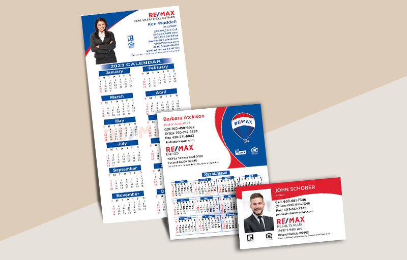 RE/MAX Real Estate Business Card Magnets - RE/MAX  magnets with photo and contact info | BestPrintBuy.com