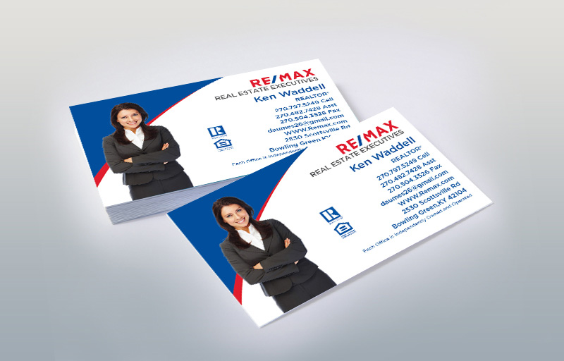 RE/MAX Real Estate Silhouette Business Card Magnets - RE/MAX personalized marketing materials | BestPrintBuy.com