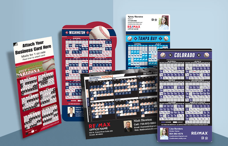 RE/MAX Real Estate 2018 Baseball Schedules - RE/MAX custom sports schedule magnets | BestPrintBuy.com