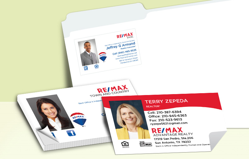 RE/MAX Real Estate Business Card Labels - RE/MAX  personalized stickers with contact info | BestPrintBuy.com