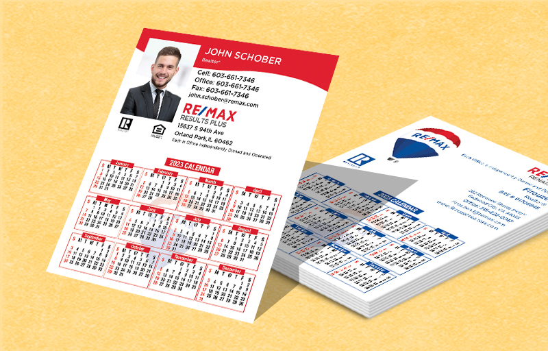 RE/MAX Real Estate Mini Business Card Calendar Magnets - RE/MAX  2019 calendars | BestPrintBuy.com