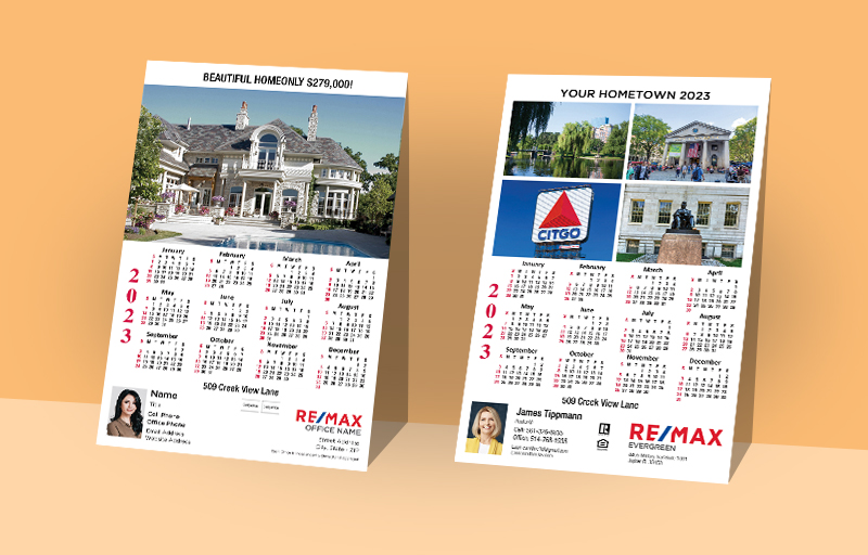 RE/MAX Real Estate Full Calendar Magnets With Photo Option - RE/MAX 2019 calendars | BestPrintBuy.com
