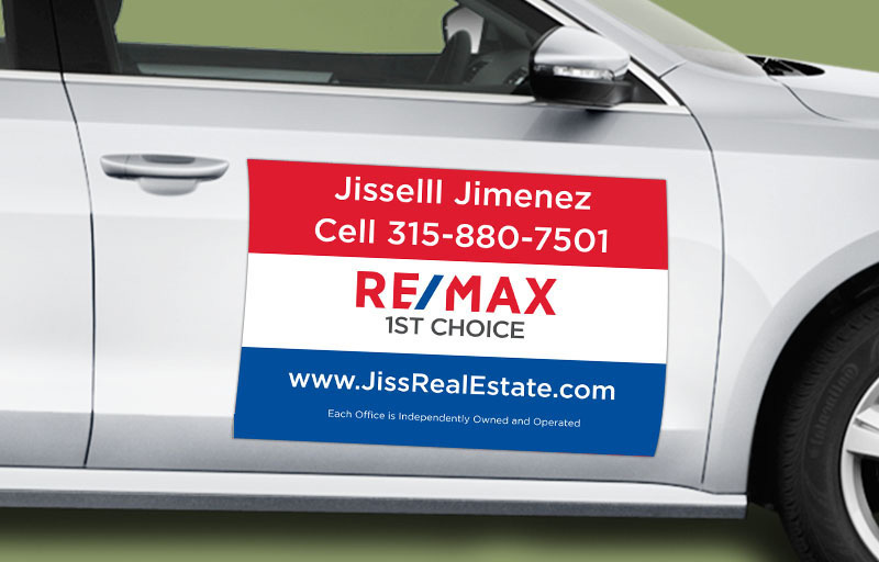 RE/MAX Real Estate 12 x 18 without Photo Car Magnets - RE/MAX  custom car magnets for realtors | BestPrintBuy.com
