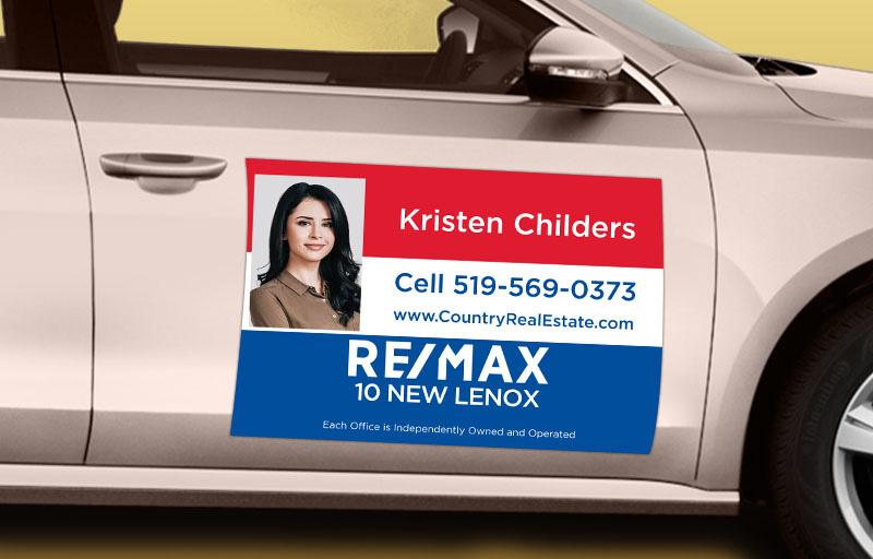 RE/MAX Real Estate 12 x 18 with Photo Car Magnets - RE/MAX custom car magnets for realtors | BestPrintBuy.com