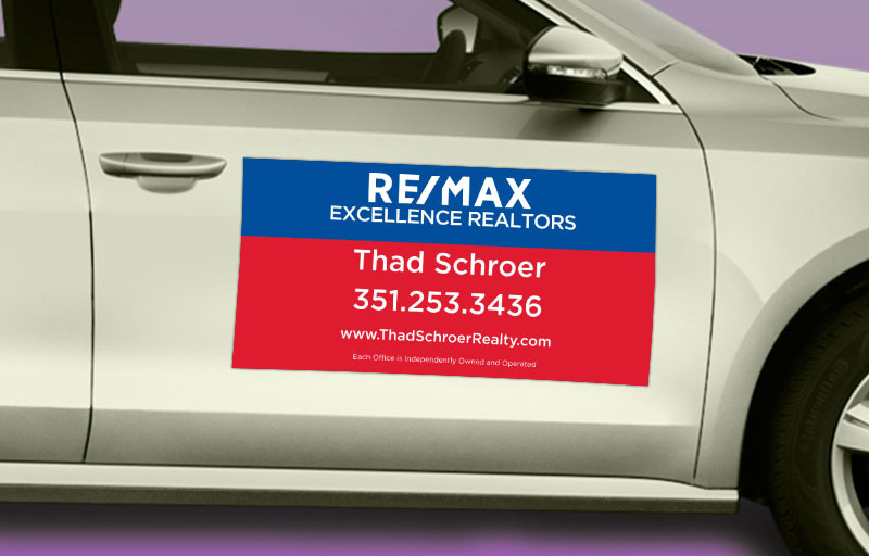 RE/MAX Real Estate 12 x 24 without Photo Car Magnets - RE/MAX  custom car magnets for realtors | BestPrintBuy.com