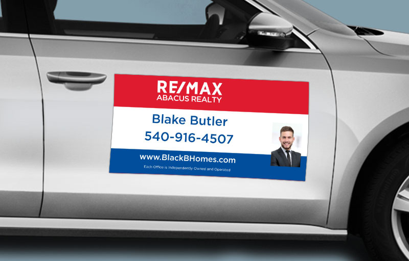 RE/MAX Real Estate 12 x 24 with Photo Car Magnets - RE/MAX  custom car magnets for realtors | BestPrintBuy.com