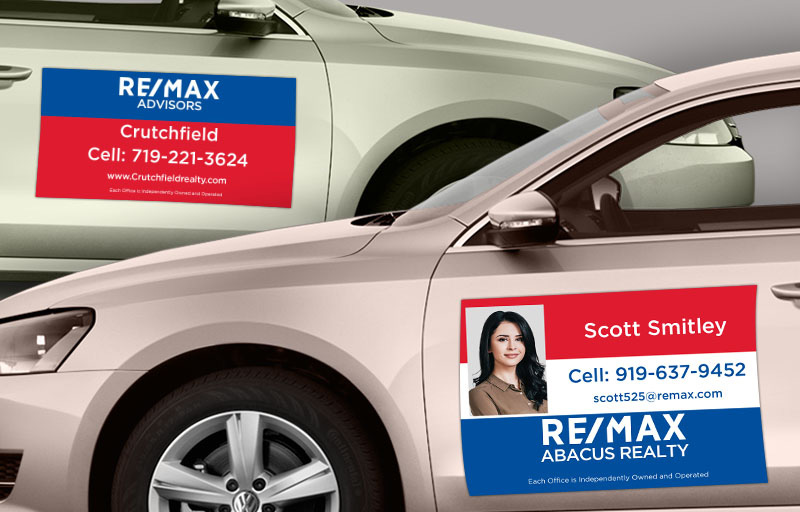 RE/MAX Real Estate Car Magnets - RE/MAX car door magnets | BestPrintBuy.com