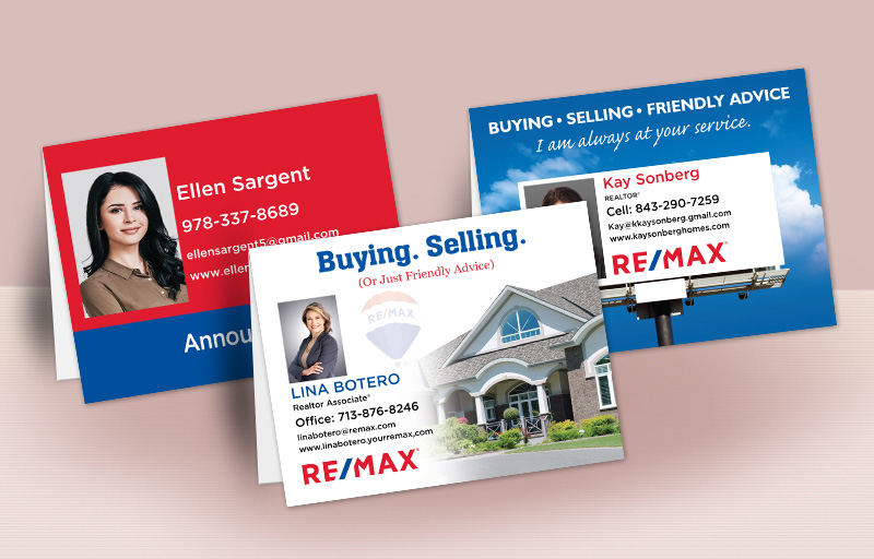 RE/MAX Real Estate Personalized Folded Note Cards - RE/MAX stationery | BestPrintBuy.com