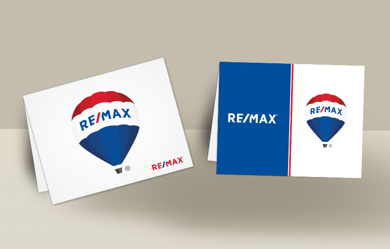 RE/MAX Real Estate Blank Folded Note Cards - RE/MAX stationery | BestPrintBuy.com