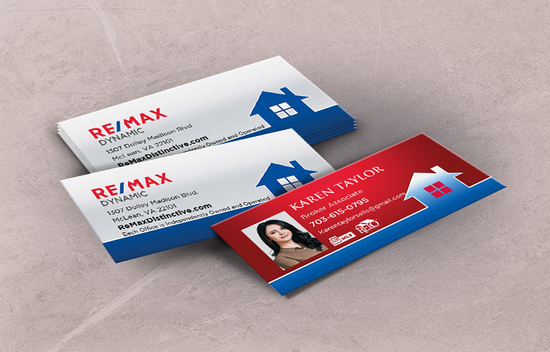 RE/MAX Real Estate Matching Two Sided Mini Business Cards - RE/MAX - Slim, Half Size Business Cards for Realtors | BestPrintBuy.com
