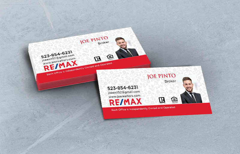 RE/MAX Real Estate Mini Business Cards With Photo - RE/MAX - Slim, Half Size Business Cards for Realtors | BestPrintBuy.com