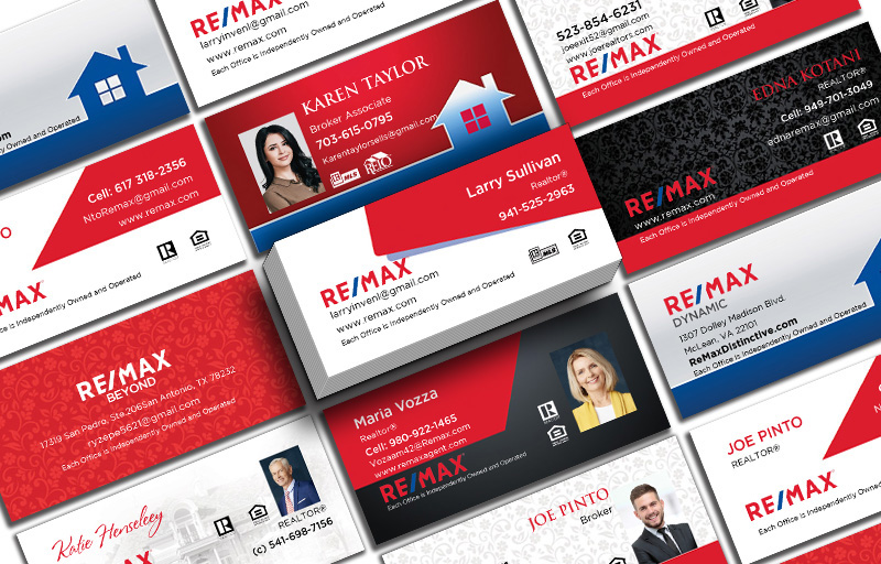 RE/MAX Real Estate Mini Business Cards - RE/MAX Unique Business Cards on 16 Pt Stock for Realtors | BestPrintBuy.com