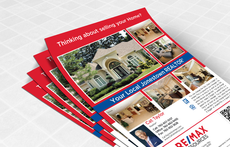RE/MAX Real Estate Flyers and Brochures - RE/MAX one-sided flyer templates for open houses and marketing | BestPrintBuy.com