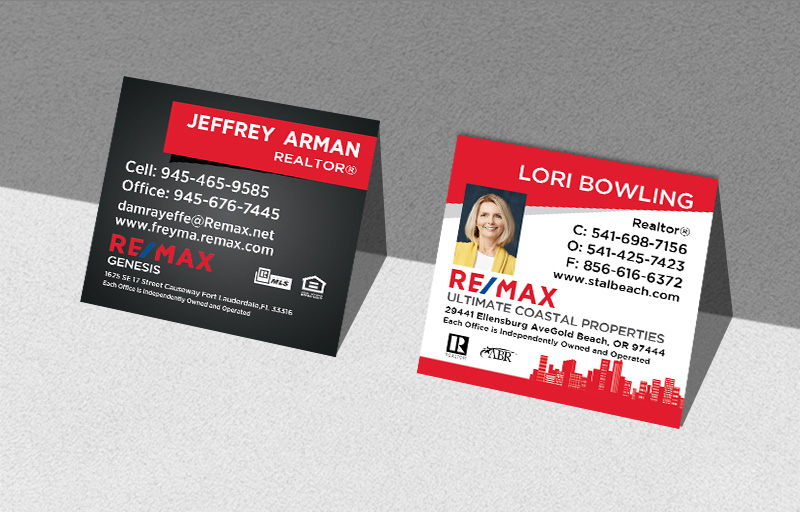 RE/MAX Real Estate Square Business Cards - RE/MAX Modern Business Cards for Realtors | BestPrintBuy.com