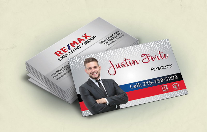 RE/MAX Spot UV Raised Business Cards (Glossy Embossed)