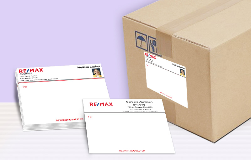 RE/MAX Real Estate Shipping Labels - RE/MAX  personalized mailing labels | BestPrintBuy.com