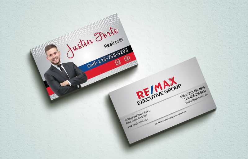 RE/MAX Real Estate Spot UV (Gloss) Raised Business Cards - RE/MAX Luxury Raised Printing & Suede Stock Business Cards for Realtors | BestPrintBuy.com