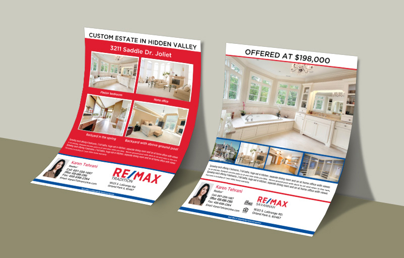 RE/MAX Real Estate Flyers and Brochures - RE/MAX two-sided flyer templates for open houses and marketing | BestPrintBuy.com