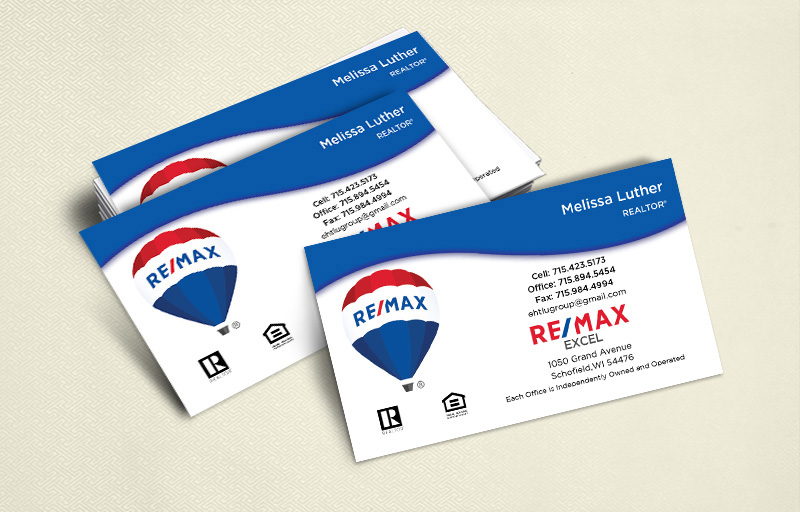RE/MAX Real Estate Ultra Thick Business Cards Without Photo - RE/MAX  - Luxury, Thick Stock Business Cards with a Matte Finish for Realtors | BestPrintBuy.com