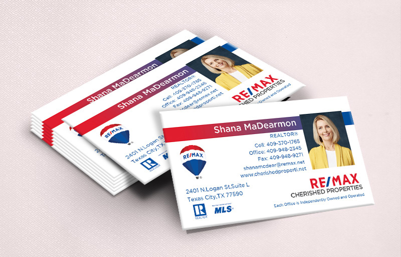 RE/MAX Real Estate Ultra Thick Business Cards With Photo - RE/MAX - Luxury, Thick Stock Business Cards with a Matte Finish for Realtors | BestPrintBuy.com
