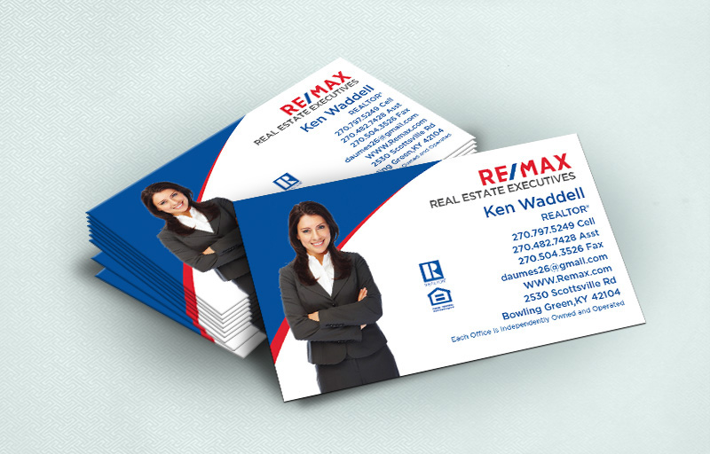 RE/MAX Real Estate Ultra Thick Business Cards With Silhouette Photo - RE/MAX  - Luxury, Thick Stock Business Cards with a Matte Finish for Realtors | BestPrintBuy.com