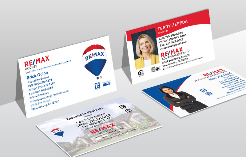 RE/MAX Real Estate Ultra Thick Business Cards - RE/MAX Thick Stock & Matte Finish Business Cards for Realtors | BestPrintBuy.com