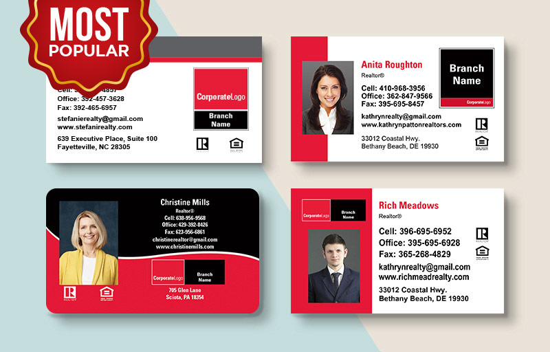 Real Living Real Estate Standard Business Cards - Real Living Standard & Rounded Corner Business Cards for Realtors | BestPrintBuy.com