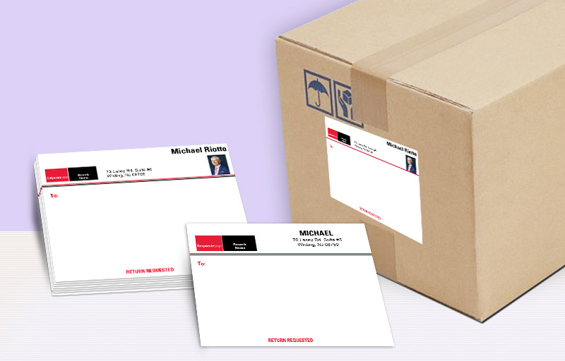 Real Living Real Estate Shipping Labels - Real Living Real Estate personalized mailing labels | BestPrintBuy.com