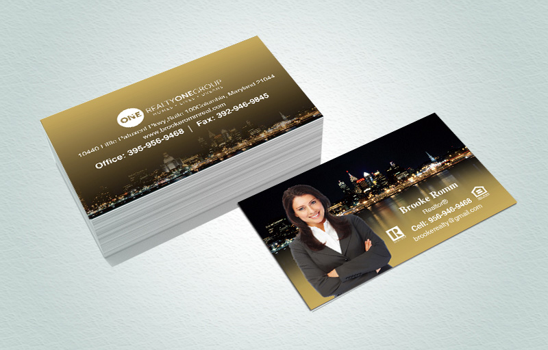Realty One Group Real Estate Matching Two-Sided Business Cards - Realty One Group marketing materials | BestPrintBuy.com