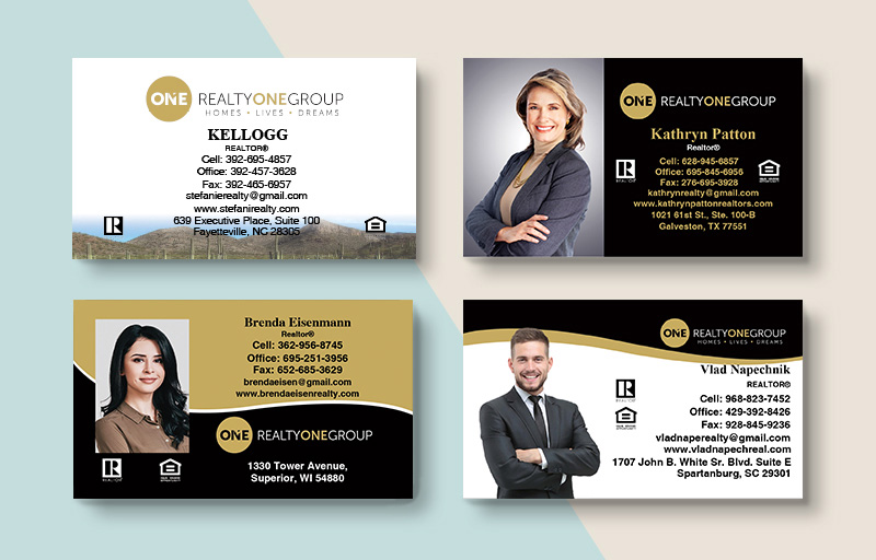 Realty One Group Real Estate Business Card Magnets - Realty One Group  magnets with photo and contact info | BestPrintBuy.com
