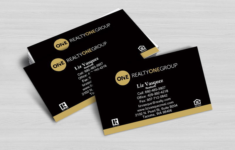 Realty One Group Real Estate Business Cards Without Photo - Realty One Group  marketing materials | BestPrintBuy.com