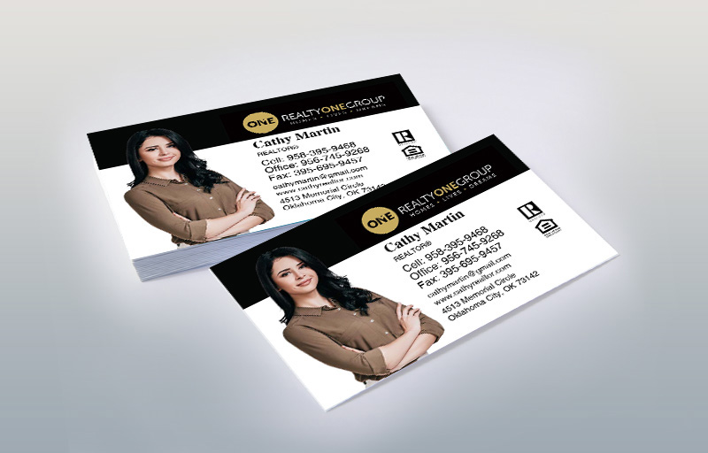 Realty One Group Real Estate Silhouette Business Cards - Realty One Group marketing materials | BestPrintBuy.com
