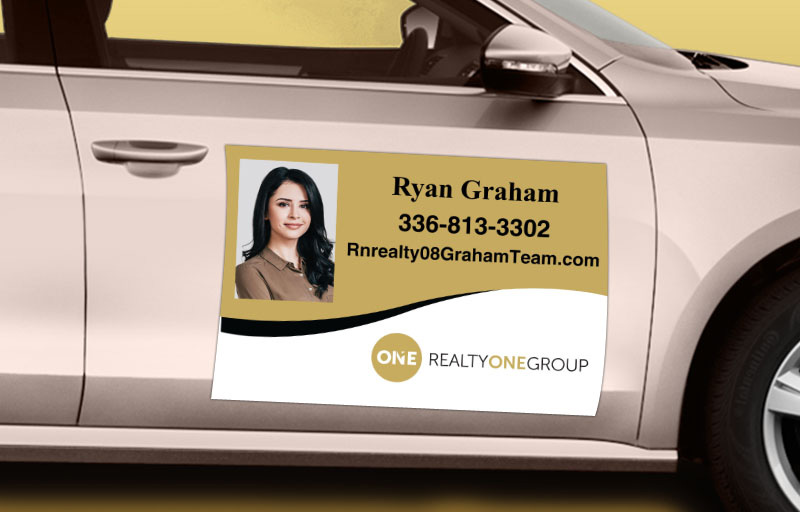 Realty One Group Real Estate 12 x 18 with Photo Car Magnets - Realty One Group custom car magnets for realtors | BestPrintBuy.com