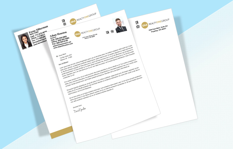 Realty One Group Real Estate Letterheads - Realty One Group Custom Letterhead Stationery for Realtors | BestPrintBuy.com