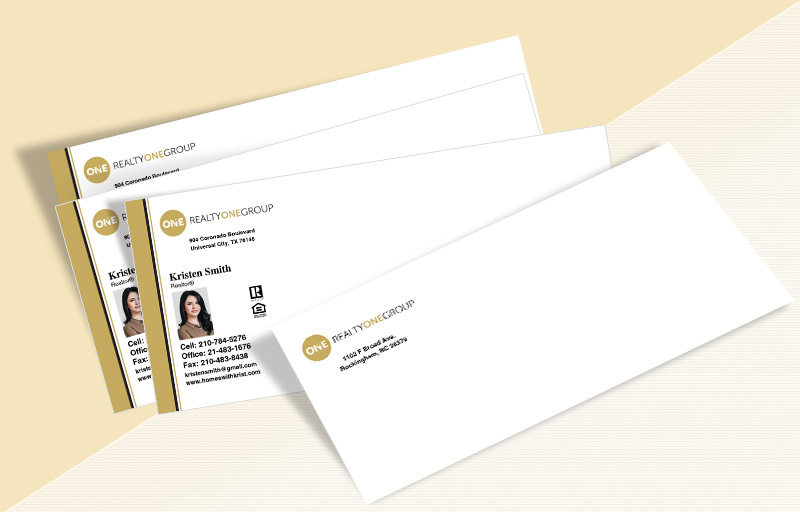 Realty One Group Real Estate #10 Envelopes - Realty One Group Custom #10 Envelopes Stationery for Realtors | BestPrintBuy.com