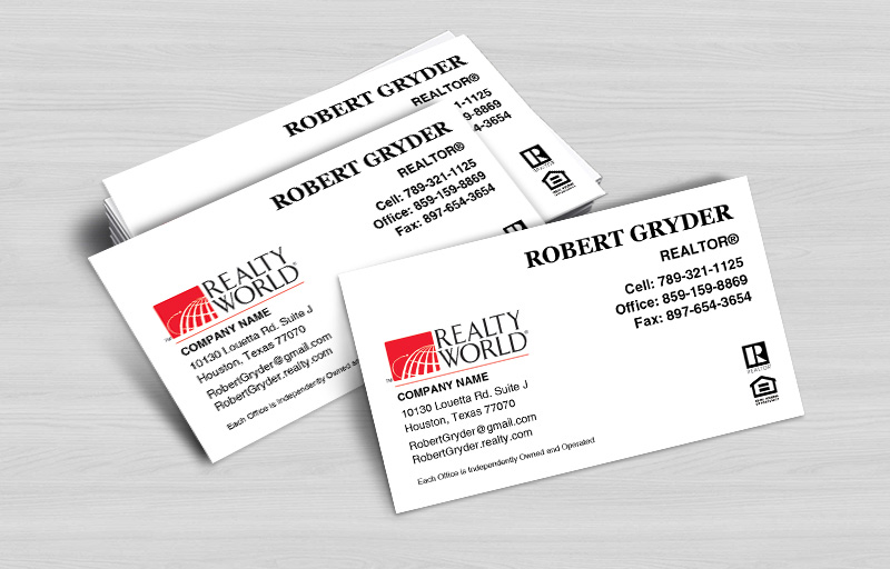 Realty World Real Estate Business Card Magnets Without Photo - Realty World  personalized marketing materials | BestPrintBuy.com