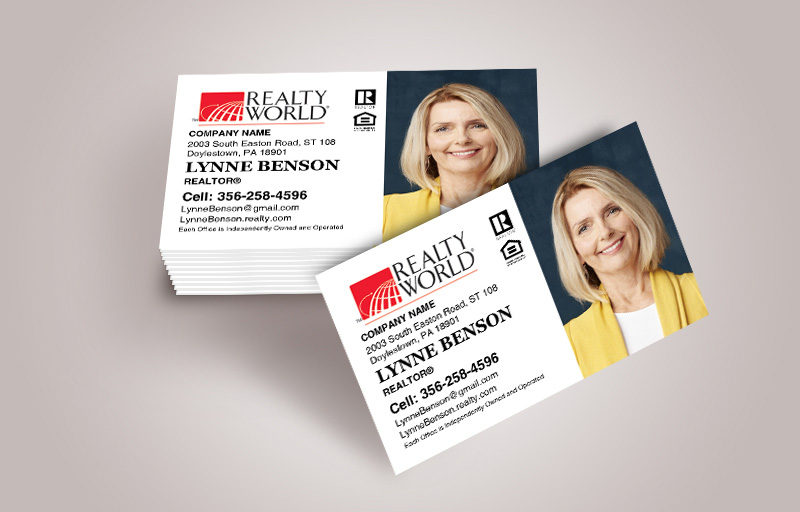 Realty World Real Estate Business Card Magnets With Photo - Realty World  personalized marketing materials | BestPrintBuy.com